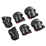 Tera Protectores para Skate Kit de 9 piezas Set Proteccion Protector de Muneca Guardias para Rodilleras y Coderas para Skate Esqui Escalada Ciclismo y otros Deportes de Invierno