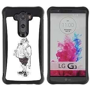 Suave TPU GEL Carcasa Funda Silicona Blando Estuche Caso de protección (para) LG G3 / CECELL Phone case / / Aristocrat Legs Man Sketch Pencil Drawing Art /