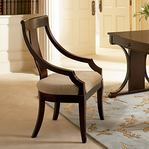 Coaster Home Furnishings Transitional Arm Chair (Set of 2), Dark Cherry/Tan (Chair Curved Arm Back Dining)