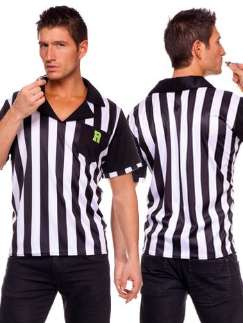 [Collared Referee Mens Costume - LARGE] (Mens Referee Costumes)
