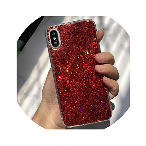 Shining Phone Case Lite Fundas,Red,for Redmi Note 6