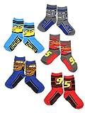 Disney Cars 3 Boys Toddler 5 pack Crew Socks