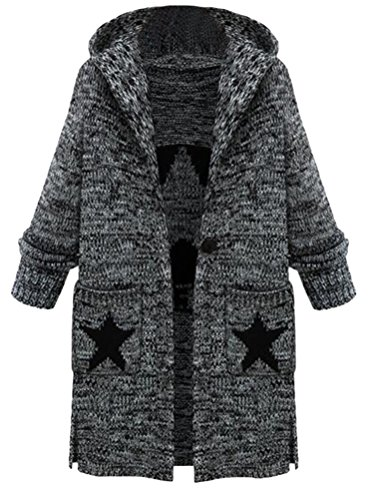 Femme Manteau Tricot Lourd Cardigan Vogstyle ouvert Pull FZaxwHZqd