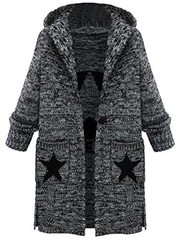Lourd ouvert Tricot Manteau Pull Cardigan Femme Vogstyle qFHIZ