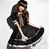 cosclub maid Lolita Cosplay Costume adult pumpkin pants white with 8-piece set Party Goods Black Size XL by cosclub