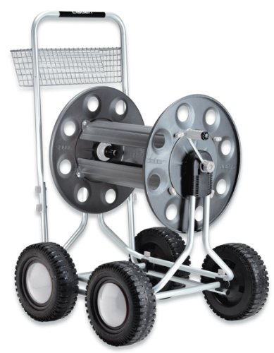 Claber 8900 Jumbo 4 Wheel Garden Hose Reel with 350-Foot 5/8-Inch Capacity by Claber