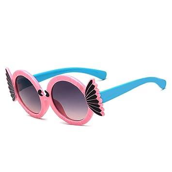WYFC Sonnenbrille für Kind, Cartoon runde Sonnenbrille für Jungen und Mädchen von 3-12 Jahre alt, zufällige Farbe , girls (random colors)