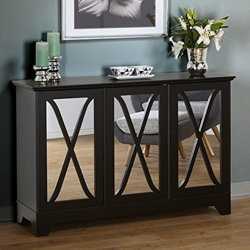 Simple Living Reflections Black Wood Buffet/ Console