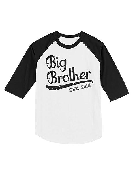 cd6383fae25 Gift for Big Brother 2018 Sibling Boys Toddler Raglan 3 4 Sleeve Baseball  Tee 2T