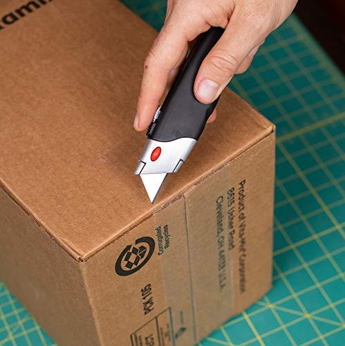 Retractable box cutting razor knife