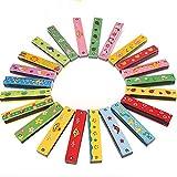 Baby Kids Child Colorful Wooden Harmonica Toy Educational Musical Instrument // Los niños del niño del bebé colorido juguete de madera armónica educativa instrumento musical