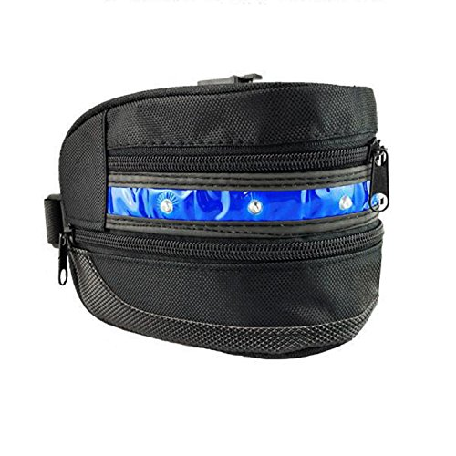 dle Bag/Bike Seat Bag/Seat Packs,ViMall(TM)Super Cool LED Waterproof Bicycle Cycling Bike Rear Seat Bag/Tail Bag/Under-seat Storage for Outdoor Race,Mountain Road Riding (LED Blue) (Street Bike Saddlebag)