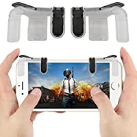 GUOYIHUA 【Mobile Game Joystick】 PUBG Mobile Game Controller Sensitive Shoot and Aim Keys L1R1 Trigger Buttons for PUBG/Knives Out/Rules of Survival, Support Both Android and IOS System