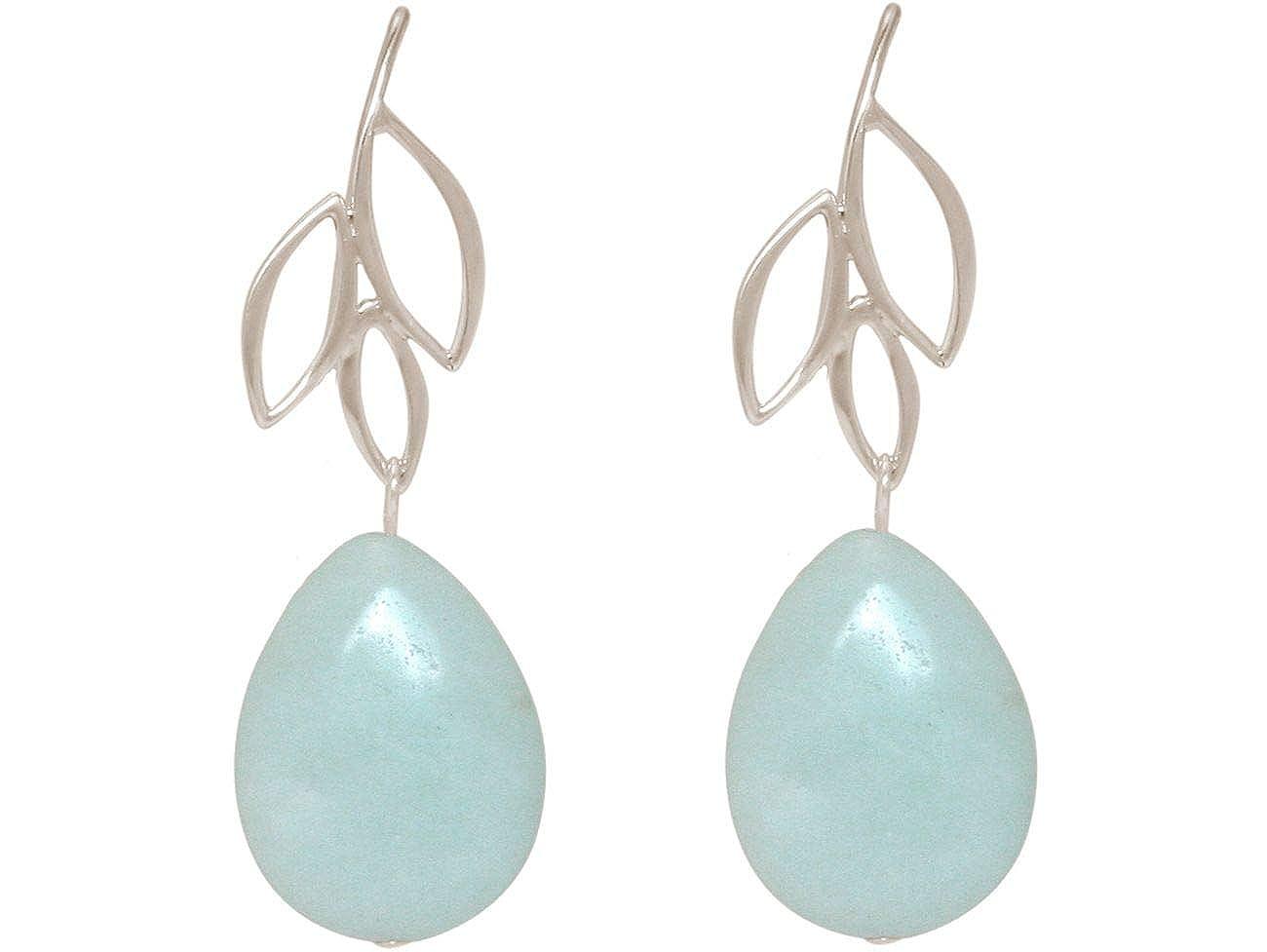 Ohrringe aus Edelsteinen Lapislazuli in Tropfenform 925er Silber Ohrhaken
