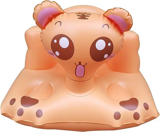 per bambini a forma di tigre Poltroncina gonfiabile per imparare a stare seduti con schienale e pompa integrata