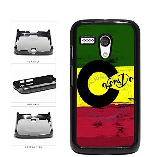 BleuReign(TM) Rasta Colorado Flag Plastic Phone Case Back Cover For Motorola Moto G (Motorola Moto G Case Rasta)