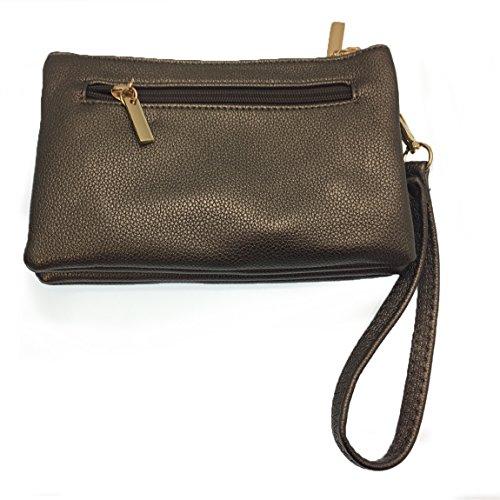 argenté gris Pochettes Choice femme Fille Fashion nZ06w8