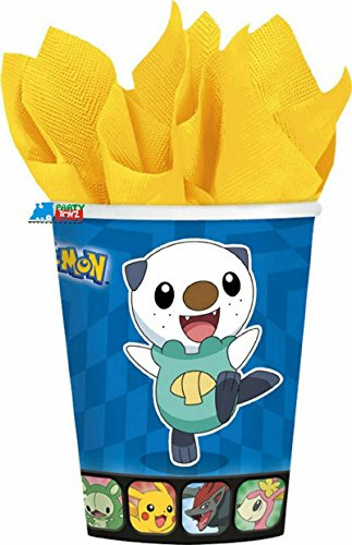Pokemon 'Birthday' 9oz Paper Cups (Pokemon 9 Ounce Cups)