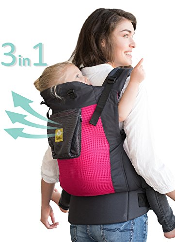 Líllébaby 3 in 1 CarryOn Toddler Carrier - Airflow, Charcoal Berry