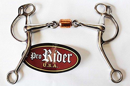 Tackmaster Professional Equine Argentine Snaffle Copper Dog Bone Roller Horse Bit 35418