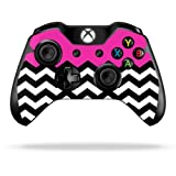Cheap Protective Vinyl Skin Decal Cover for Microsoft Xbox One/One S Controller wrap sticker skins Hot Pink Chevron