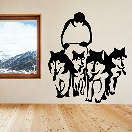 Wall Decal Quote Words Lettering Decor Sticker Wall Vinyl Husky Dog Huskies and Sled Sledge Decal Boy Room Ideas Bedroom