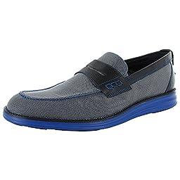 Donald J Pliner Mens Ellard2-K Slip On Penny Loafer Shoes, Lead King, US 14