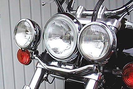 Fehling Soporte de l/ámpara para Faros adicionales Yamaha XVS 650 96-03//1100 Drag Star 99-02