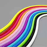 Smile Pick Candy Colors Spring Protective Sleeve Mobile Tablet Spiral Cord Protector for iPhone Android Charger Earphone Cords.3 Pieces(Each as 60 cm Covers 1.7 M Length Approx)