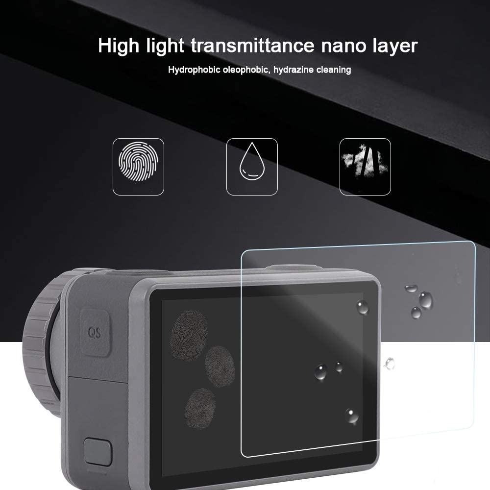 Lens Front and Back LCD Display HD Protective Film for DJI New Action Durable