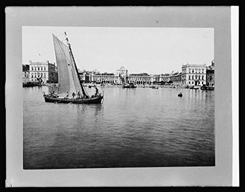 Vintography 8 x 10 Reprinted Old Photo Spain. Lisbon Water Front & Plaza Commerce 1918 National Photo Co 55a by Vintography