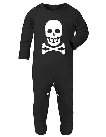 Halloween Skull And Crossbones Baby Rompersuit Playsuit Amazon Co