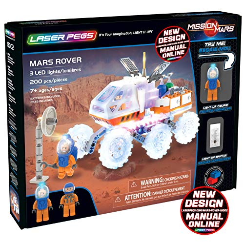 Laser Pegs Mars Rover Light Up Building Kit (200 pieces)