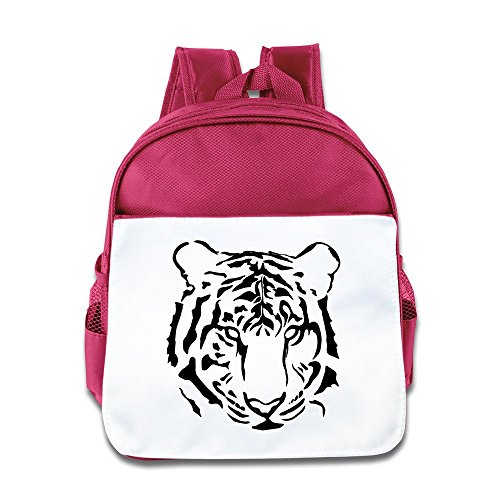 - Hello-Robott Tiger Close Up Face School Bag Backpack Pink