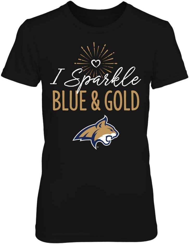 FanPrint Montana State Bobcats T-Shirt I SparkleSchool Colors T-Shirt Tank