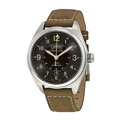 Hamilton Men's H70505833 Khaki Field Analog Display Automatic Self Wind Brown Watch (Hamilton 42mm Watch)