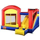 Costzon Inflatable Bouncy Castle Slide Moonwalk Bouncer Kids Jump Playhouse
