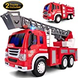 Gizmovine 2 PCs Fire Truck Toy Friction Power