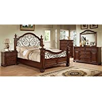 247SHOPATHOME Idf-7811Q-6PC Bedroom-Furniture-Sets, Queen, Oak
