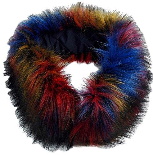 Detachable Faux Fur (Modelshow Imitation Faux Fur Long Detachable False Collar Scarf Neck Wrap Neckerchiefs for Coat (colourful))