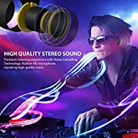 Wireless Earbuds,Vinso Tech V5+ Bluetooth Headphones 15H Playtime Deep Bass HiFi 3D Stereo Premium Sound, Graphene Driver Technology, Built-in Mic for Running Sport from VINSO TECH