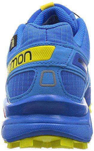 Salomon Speedcross 3 Gtx, Zapatillas de Trail Running para Hombre Azul (Bright Blue / Process Blue / Gecko Gree)