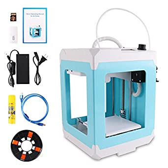 HopeWant Beginner 3D Printer STEAM for Design Mini 3D Printer Kit with 250g PLA Filament TF Card High Accuracy 3D Print Education Windows/MAC/LINUX Supported
