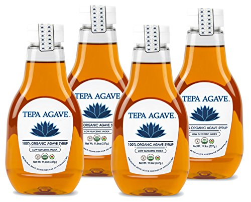 100% Agave Tequila (Tepa Agave 100% Pure Organic Blue Agave Syrup - Light Agave Flavor 4PK - 11.9 oz)