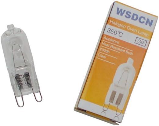 WSDCN G9 240V 40W Halogen Oven Lamp 350'C Oven Bulb Heat Resistant 2000h+ life