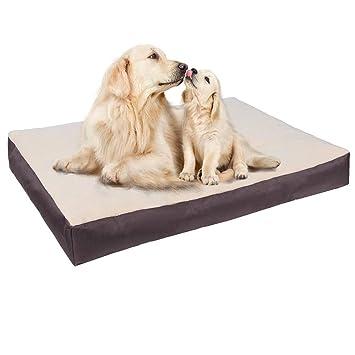 E-Starain Cama para Perros Gota para Mascotas Animal del Perrito Sofa del Pieles de venado Acolchada Cómodo Marrón 110 * 80 * 10cm: Amazon.es: Productos ...