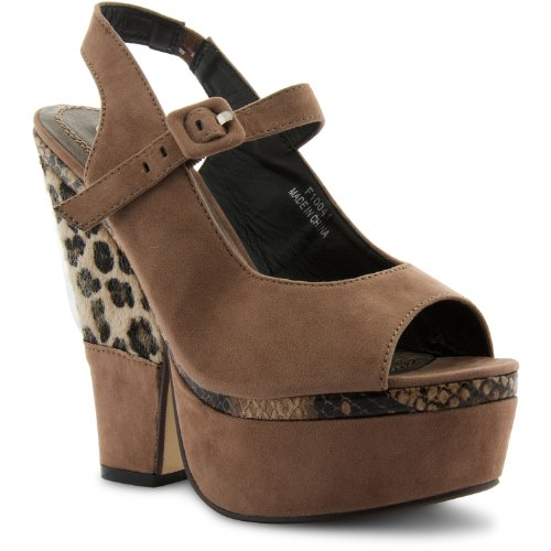 Footwear Sensation - Zapatos de vestir de sintético para mujer marrón - Taupe