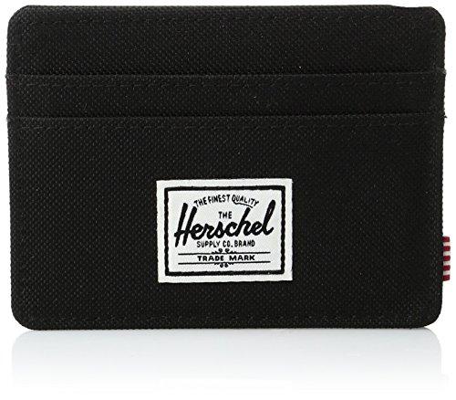 Herschel Men's Charlie Wallet, Black, One Size (Herschel Business Holder Card)