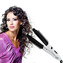 TR.OD 2016 Hair Curling Ionic Technology 4-in-1 Styler -Straighten,Cutting Edge,Styler & Dryer - Best Ionic, Professional Hair Straightener Brush Salon Edition Brush For Hair,No Damage Styler Styling Dryer Comb (White)