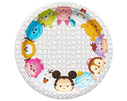 "American Greetings Tsum Tsum 7"" Round Plate (8 Count)"